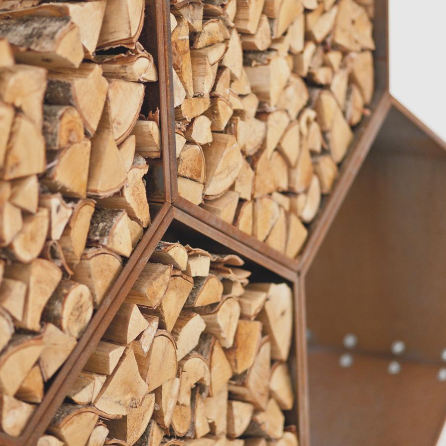 Как сделать поленницу для дров 35